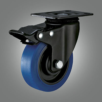 Top Plate Blue TPR Ball Bearing Caster with Brake pictures & photos