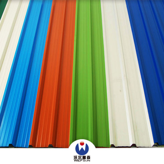 Metal Roof Siding Corrugated Pre-Painted Color Coated Steel Sheet