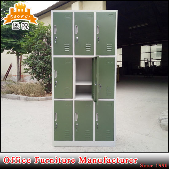 Fas-030 Powder-Coated School Used Furniture Metal Clothing Locker for 9 Person pictures & photos