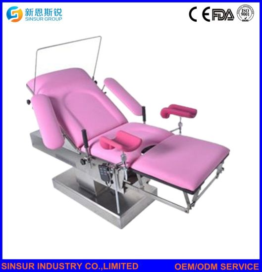 High Quality Hospital Gynecological Use Electric Combined Delivery-Hospital Bed pictures & photos