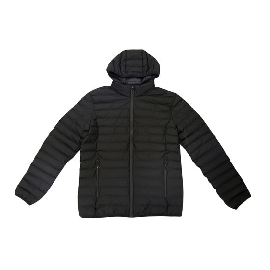 Healong Wholesale Winter Down Coat Men′s Custom Made Cotton Jacket pictures & photos