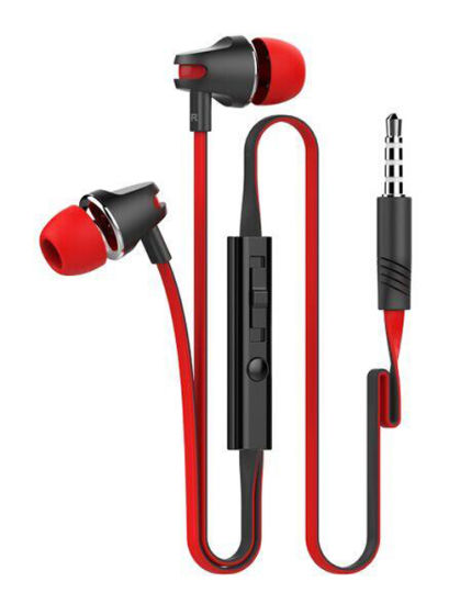 Volume Control and Mic Earphone with Flat Cable 3.5mm Jack pictures & photos