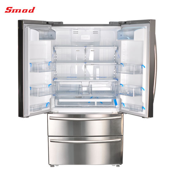 Household Frost Free French Door Freezer Refrigerator