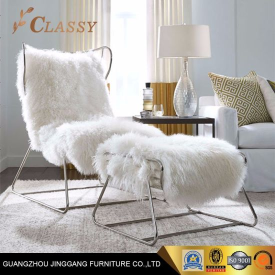 Stupendous China Gold Metal Frame Leisure Chair Wool Cushion Bedroom Machost Co Dining Chair Design Ideas Machostcouk