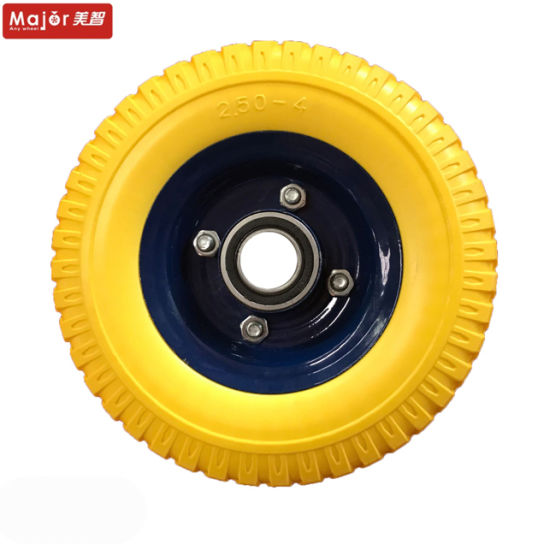 China 8 Inch Pu Foam Wheels 250 4 Polyurethane Foam Wheels Cart