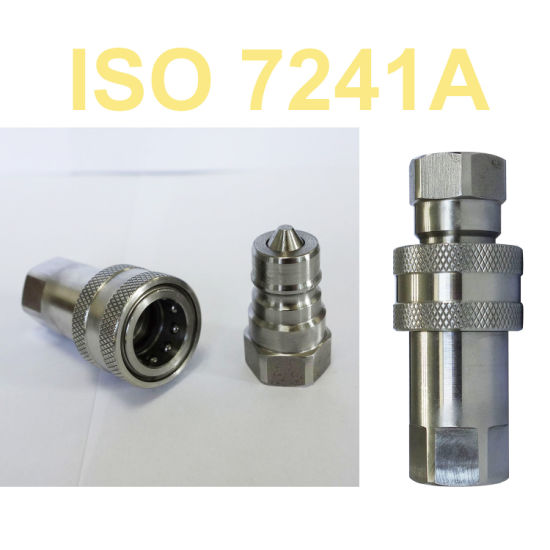 ISO a Hydraulic Push in Connect Quick Couplings Nipple Set (SS316)