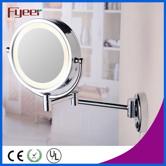 China Fyeer Double Side Wall Mounted Makeup Mirror With Led Light