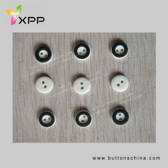 2h 11.5mm Plastic White with Black Button Two Color pictures & photos