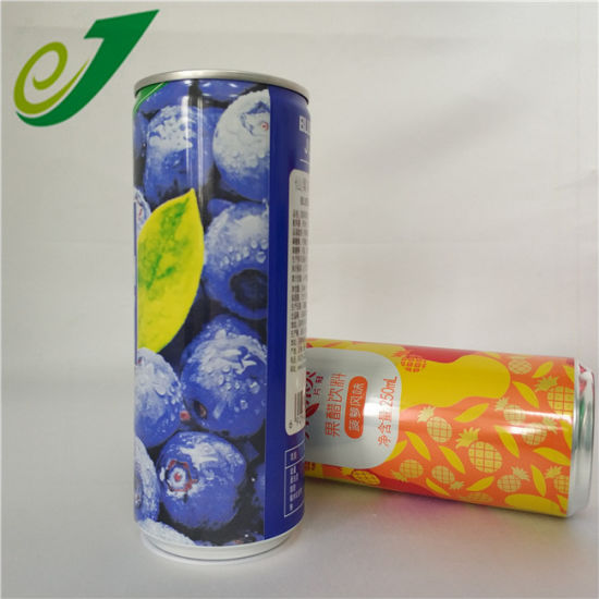 200ml 250ml 330ml Sleek Slim Aluminum Beverage Can for Wholesale