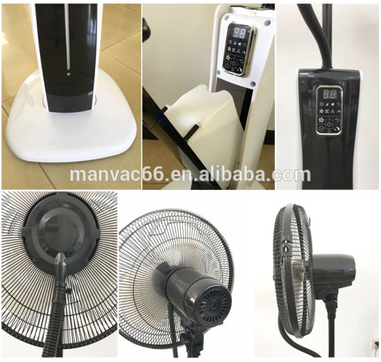 Easy Home Pedestal Fan Portable Water Cooling Mist Air