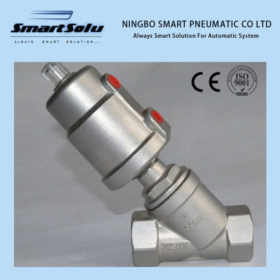Smart Normally Closed Flange Pneumatic Angle Seat Valve pictures & photos