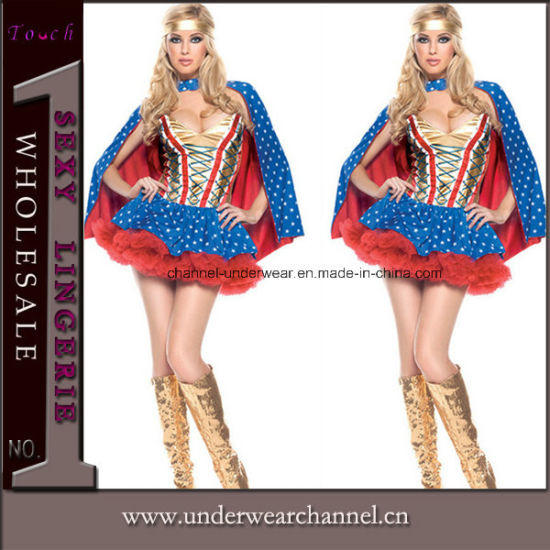Carnival Hero Movies Adult Sexy Party Superman Costume (TLQZ6829) pictures & photos
