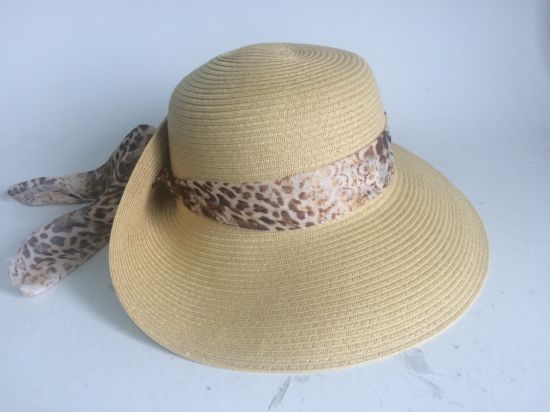 Paper Straw with Metal Ring Turn up Brim Women Hat