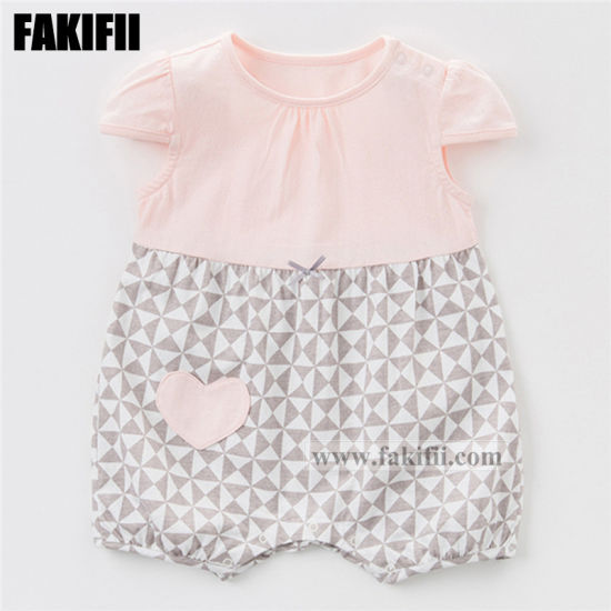 dc54dbbbe4c Fakifii Brand Manufacturing Baby Clothes Children Apparel Newborn Cotton Pink  Romper Knitted Girls Clothing
