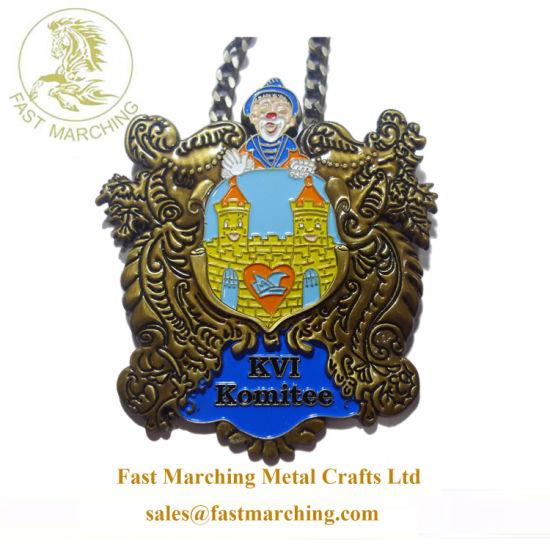 Custom Order Funny 3D Medal Trophy Cup Hard Medallion Necklace