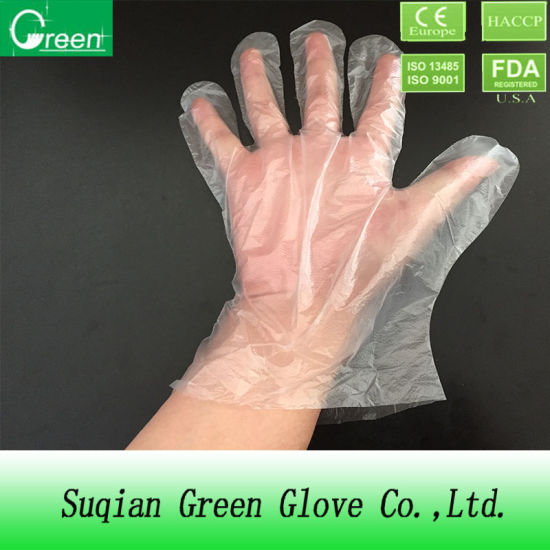 Clear Disposable Plastic Polyethylene Gloves pictures & photos
