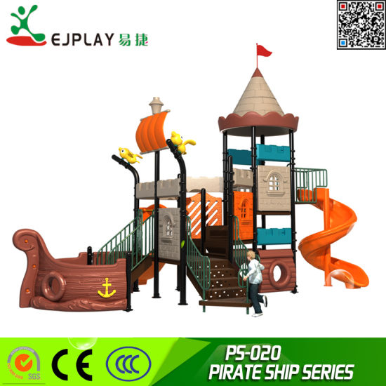 Playgound Type Outdoor Plastic Playground Equipment and Outdoor Playground of Pirate Ship