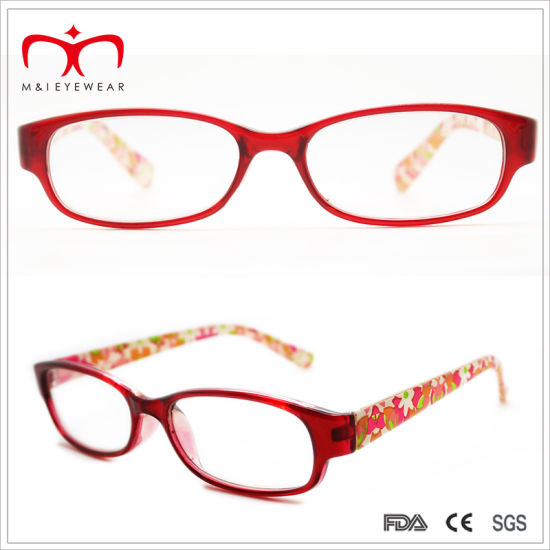 95627bd0ae Ladies Plastic Reading Glasses with Flower Paper Transfer (WRP409024)