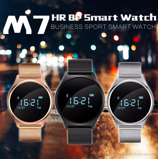 Newest Bluetooth Circular Smart Bracelet with Heart Rate Monitor M7 pictures & photos