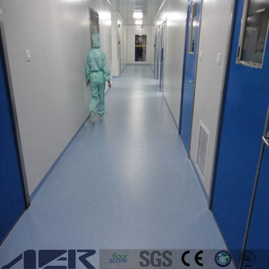 100 Waterproof Antistatic Hospital Vinyl Roll Flooring ESD Plastic In Sheet