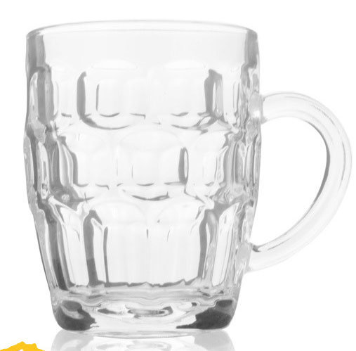 500ml Clear Color Pineapple Glass Beer Tea Cups with Handle