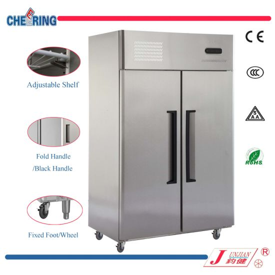 0.8LG Double-Door Stainless Steel Commercial Refrigerator & Freezer for Hotel or Restaurant pictures & photos