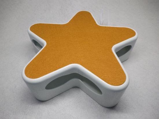 Orange Random Rotating Feather Interactive Cat Toy