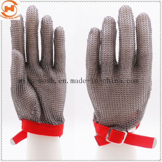 Stainless Steel Metal Mesh Safe Anti-Cutting Gloves for Butcher