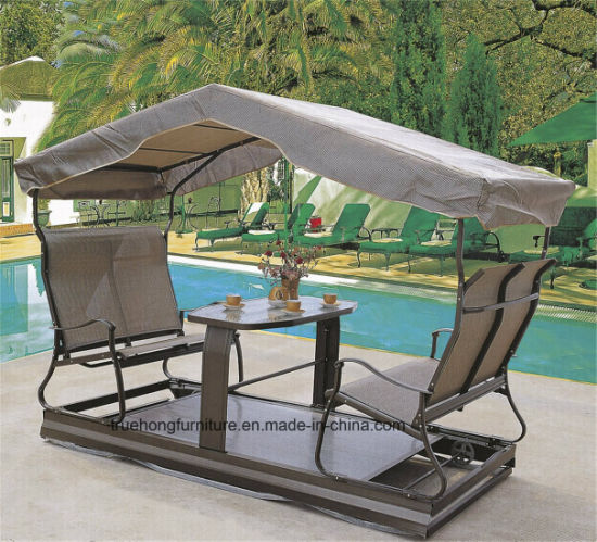 Holiday Resort Hotel Outdoor Metal Folding Furniture Outdoor Stretching Furniture UV Resistant Furniture Outdoor Casual Furniture outdoor Metal furniture pictures & photos