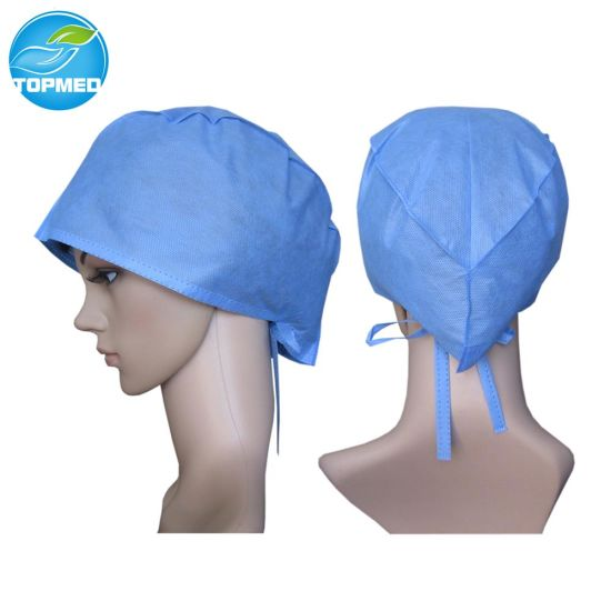 ab2b4722fa0 China Non-Woven SMS Surgical Caps, Surgeon Caps, Disposable Caps ...