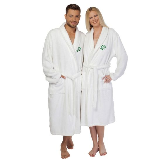 Super Comfortable Pure White Lovers Bath Robe Sleepwear From China
