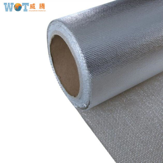 3ffdfb7d4e83 High Temperature Reflective Fireproof Aluminum Foil Fiberglass Cloth Fabric