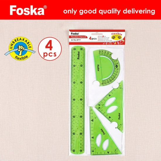 Stationery Office 30cm Plastic Flexible Geometric Ruler Set (BP77) pictures & photos