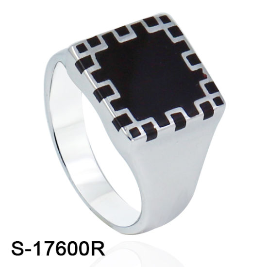 China Latest Design Men Ring 925 Silver CZ Ring with glue