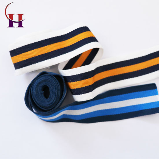 Factory Price Good Quality Striped Knitwear Webbing