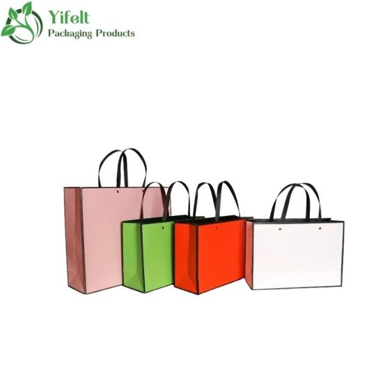 Professional Customized Luxury Shopping Bag Cosmetic Bag Gift Bag with Rope Handle Trapezoid Shape