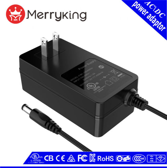 48W AC DC Adapter Wall Mount Power Adapter Us/EU/UK/SAA Plug with UL cUL FCC Ce GS CB SAA and PSE