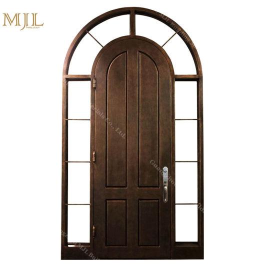 Round Top Wrought Villa Wrought Iron Exterior Main Door Design