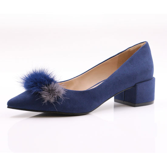 Diamond Blue Women Short Chunky Heel