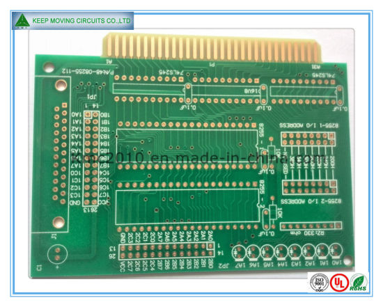 china shenzhen immersion gold printed circuit board with gold finger