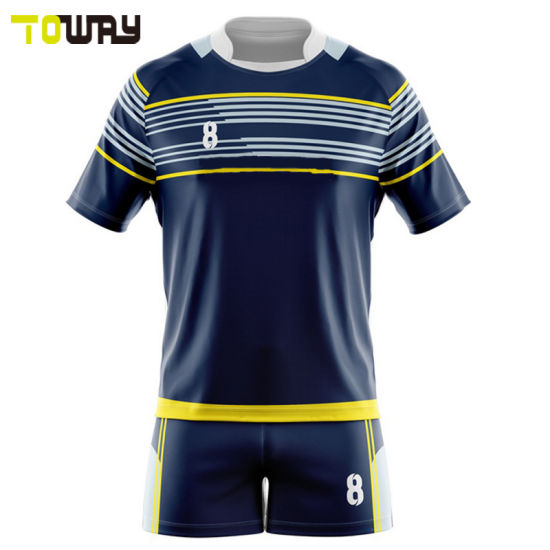 d6d499529a0 Wholesale Cheap Custom 100% Polyester China Factory Design Rugby Jersey  Shirt Wear