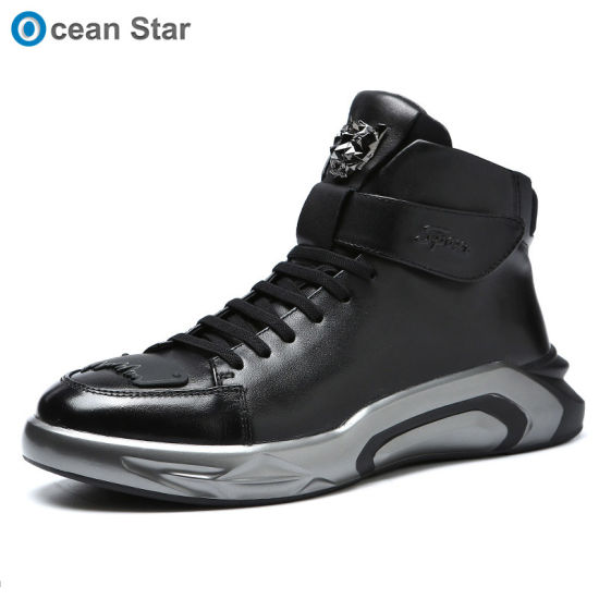 OEM Sneakers Mens Leather Shoes High-Top Men Casual Shoes