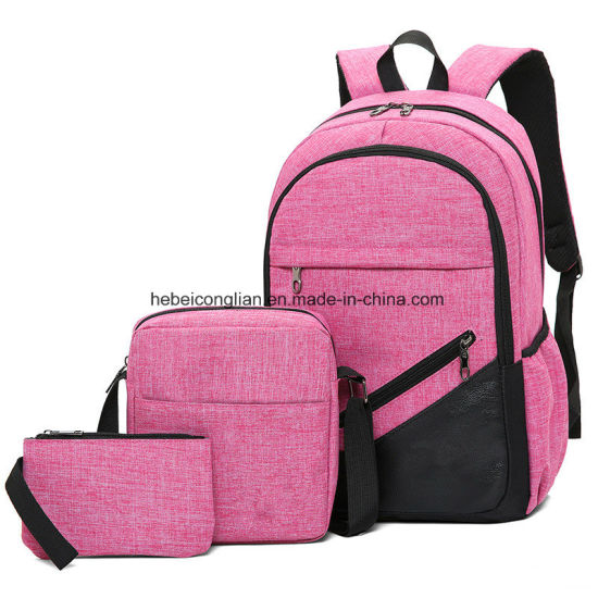 Business Package Leisure Three-Piece Backpack Schoolbag Female  Primary Middle School Bag d0fadc183e601