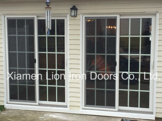 China Iron French Door Design Steel French Entry Door With Fixed