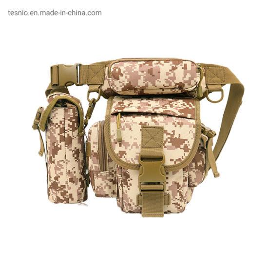 Unisex Fashion Bike Motorcycle Military Tactical Belt Drop Waist Leg Bag for Hunting Trekking Climbing