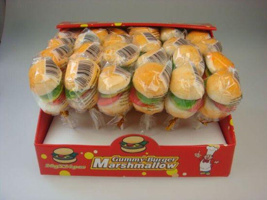 Marshmallow Center Filled Burger Gummy Candy