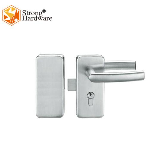 Sliding Glass Door Security Pivot Lock with Lever Ss201 Matt Glass Door Lock