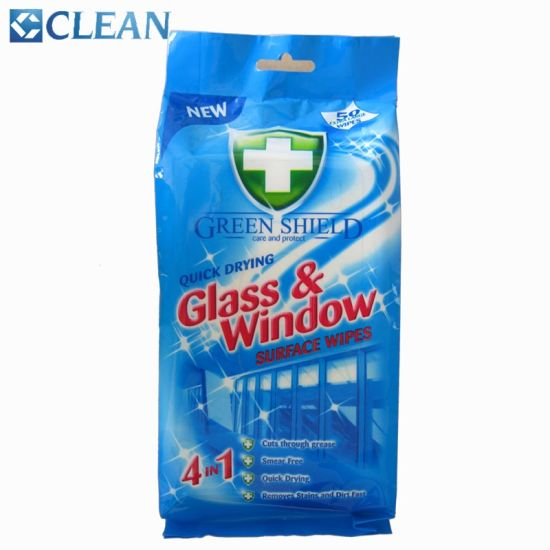 Natural Disposable Glass Windshields Cleaning Wet Wipes