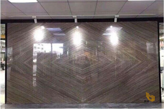 Polished Wooden Brown Marble Stone Slab for Countertop/Flooring/Wall//Table