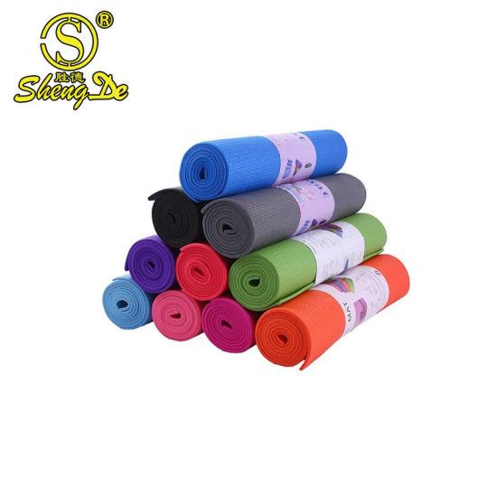 Gymnastic Eco Friendly Anti Slip PVC Custom Print Eco Yoga Mat